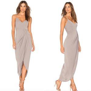 Shona Joy Dresses - NWT REVOLVE Shona Joy Cocktail Draped Dress Oyster